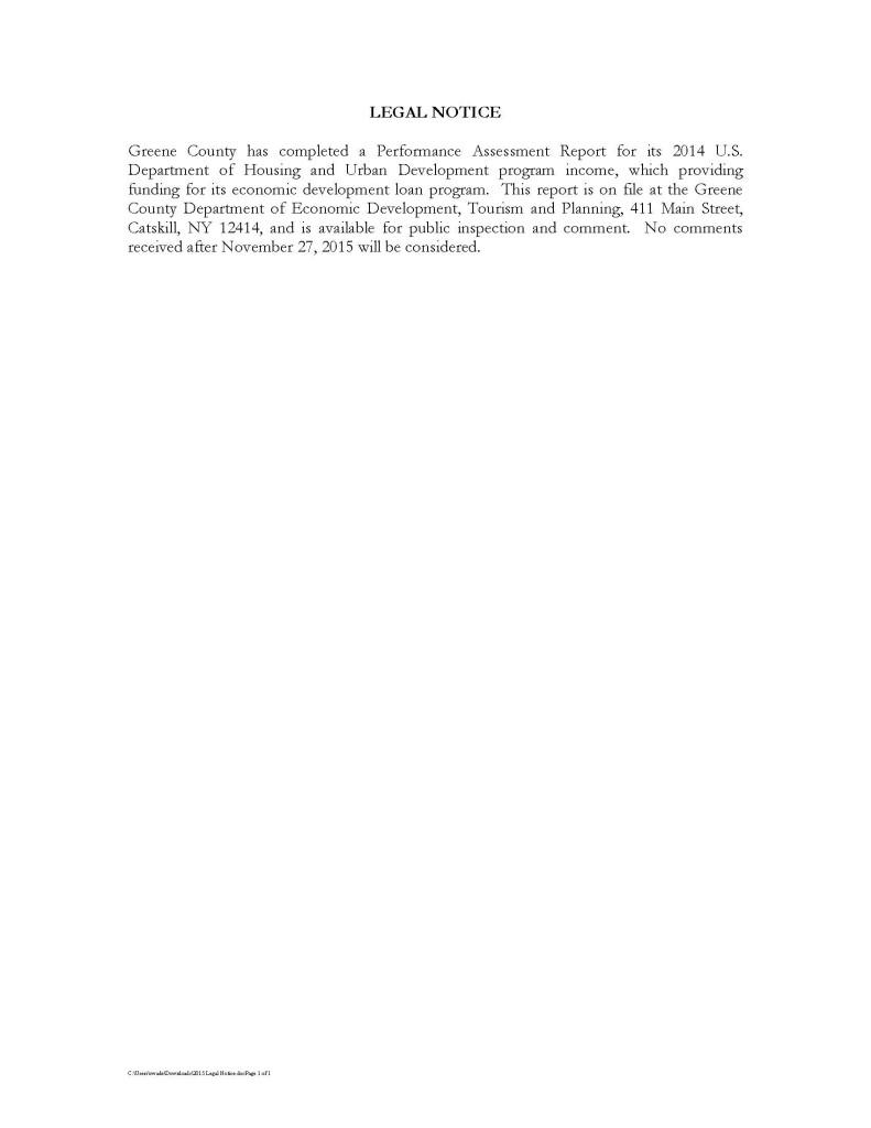 2015 Legal Notice