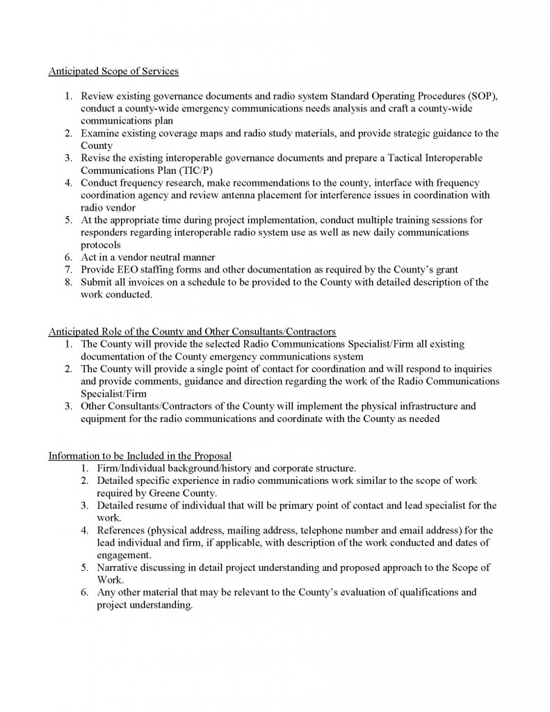Greene County Radio Communications Specialist RFP_Page_2