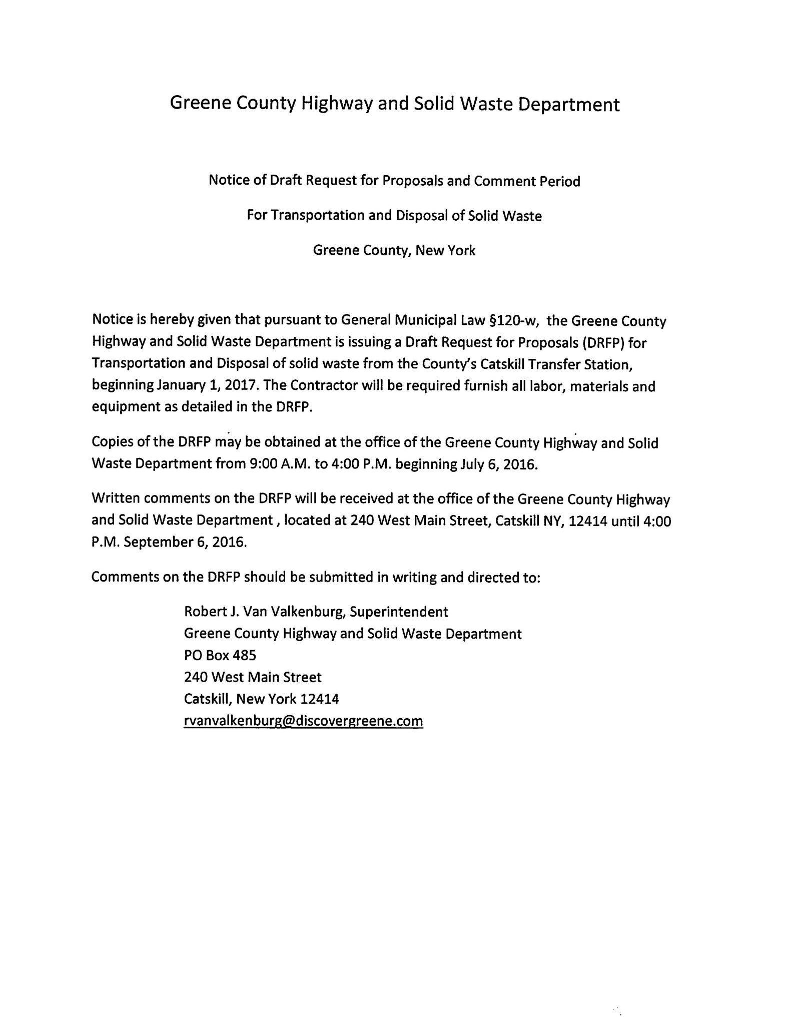 HSW Public Notice