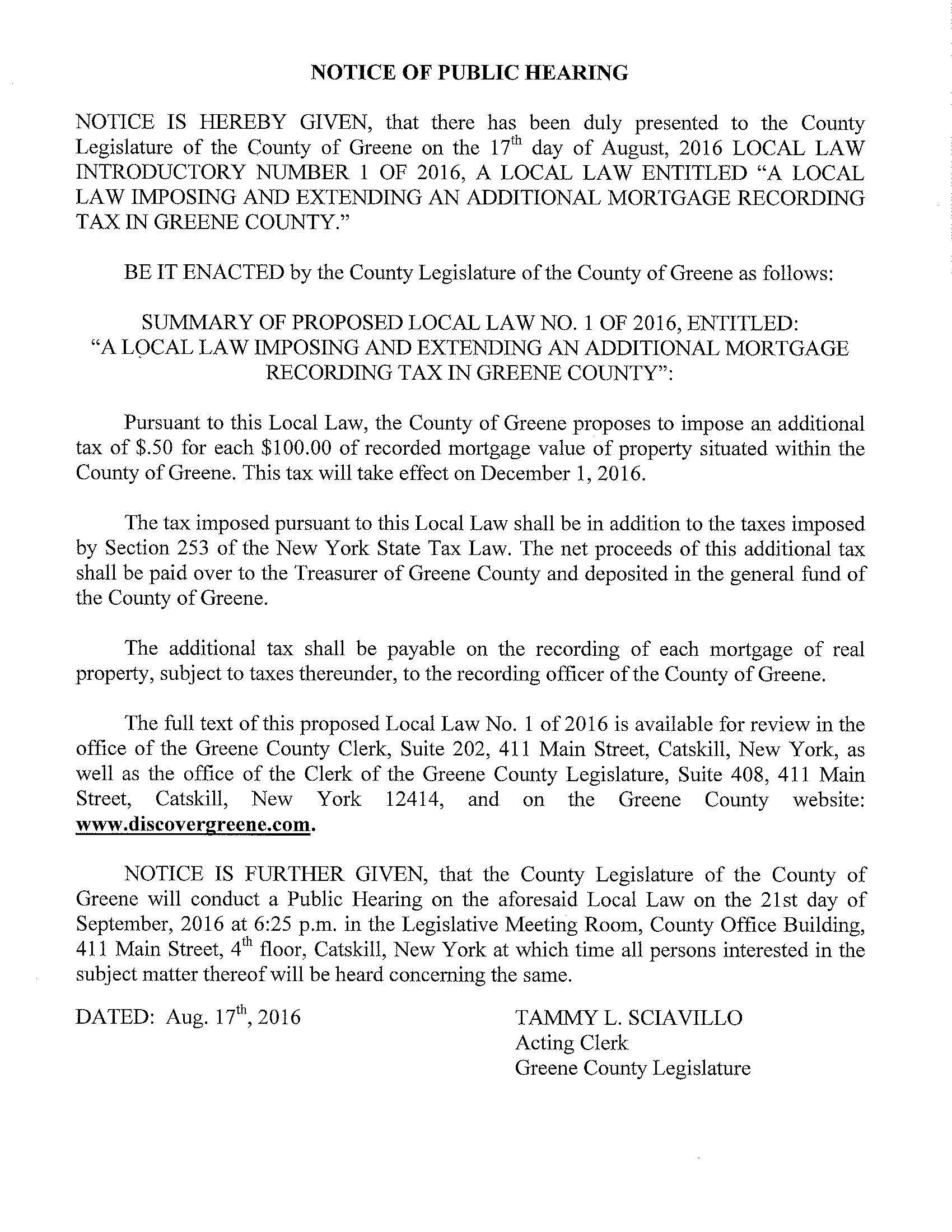 Notice of Public Hearing with Local Law #1 of 2016_Page_1