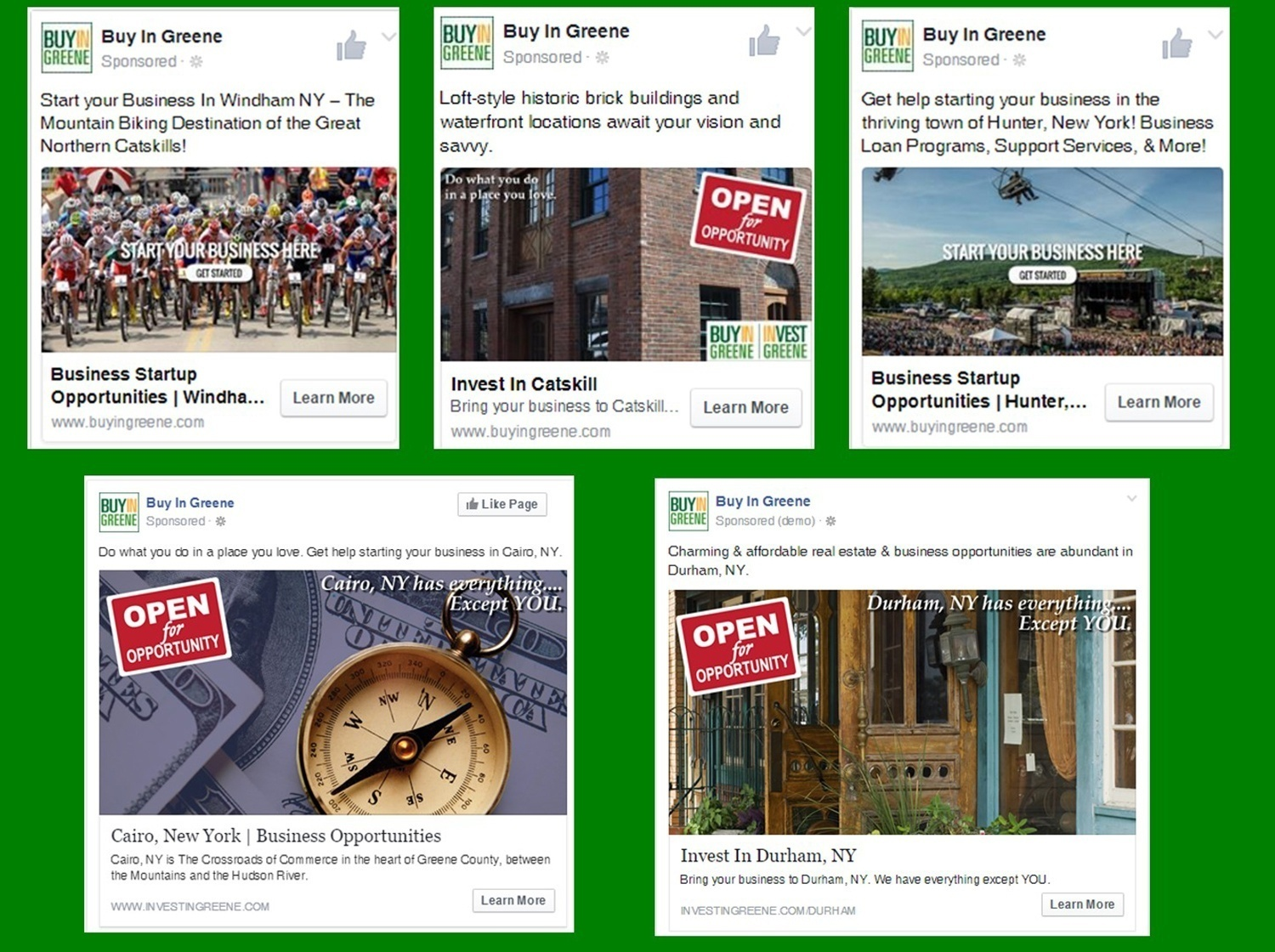 Invest In Greene Social Media Advertisitng