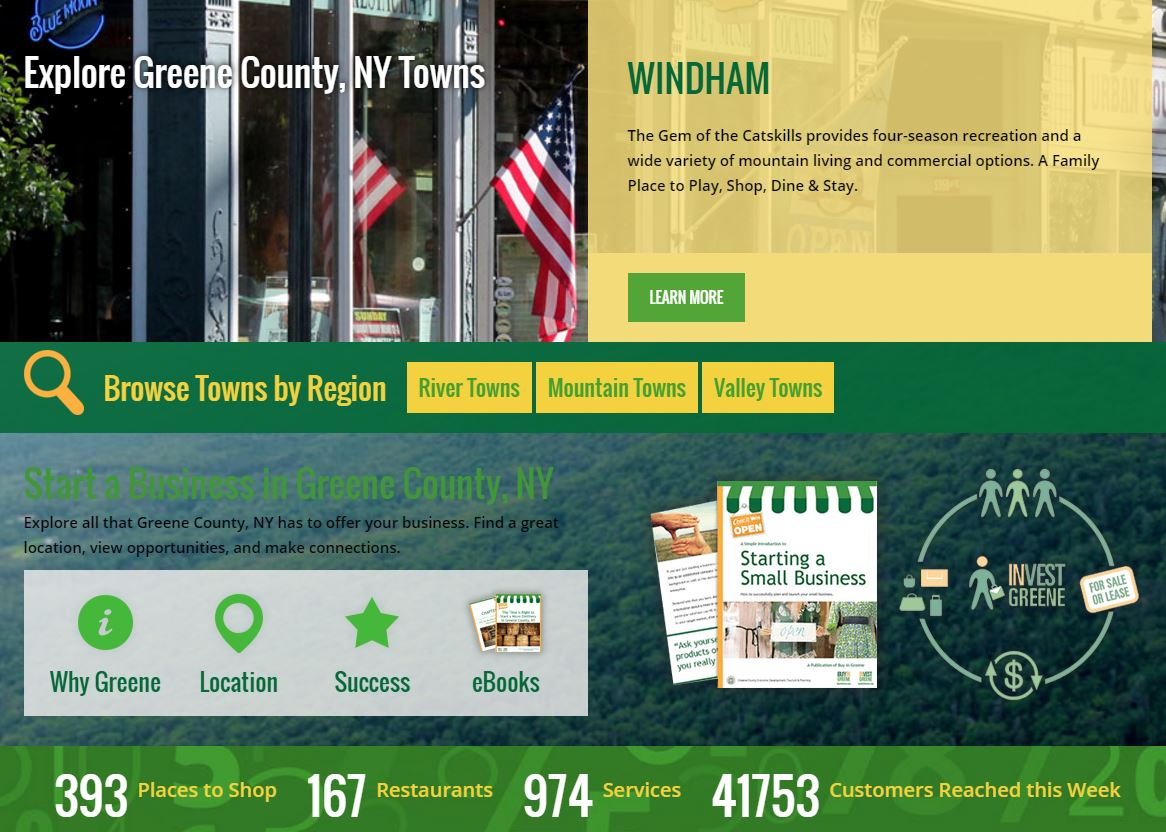 town pages on buy in greene county ny